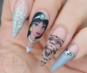 nails, disney, and jasmine image