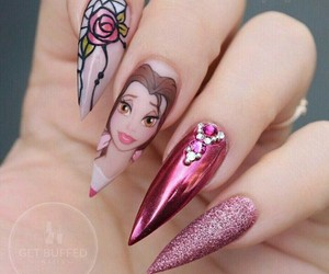 beauty and the beast, disney, and nails image