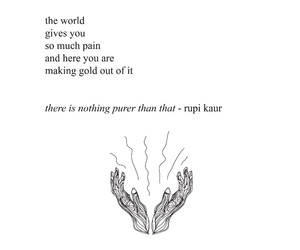 quotes, pain, and rupi kaur image