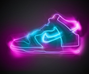 nike, light, and neon image
