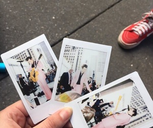 polaroid, Harry Styles, and pink image