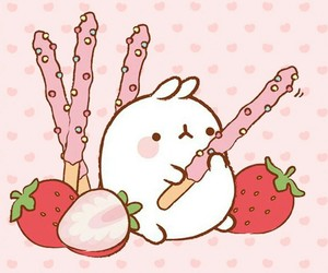 food, kawaii, and molang image