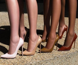 shoes, heels, and legs image