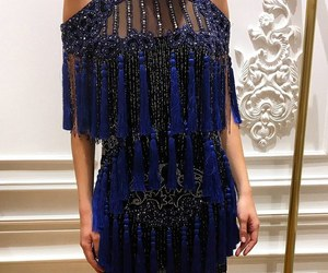 dress, blue, and Balmain image