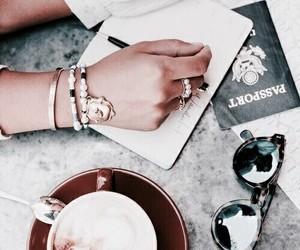 coffee, travel, and passport image