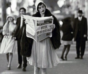 vintage, black and white, and paris image