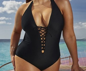 swim, summerfashion, and plussize image