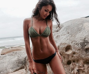 abs, beach, and model image