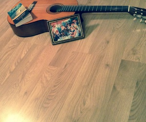 guitar, book, and picture. image