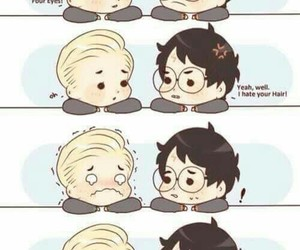 draco malfoy, harry potter, and drarry image