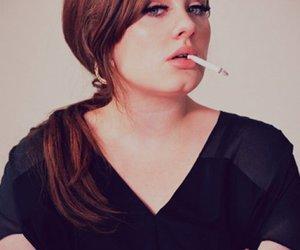 Adele and cigarette image