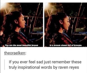 funny, the 100, and raven reyes image