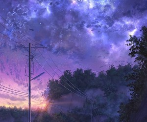 art, anime, and sky image