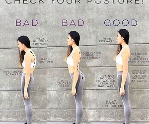 height, workout, and posture image