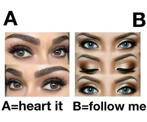 eyes, follow, and heart image