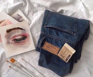 art, eye, and fashion image