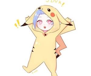kawaii, pikachu, and jinx image