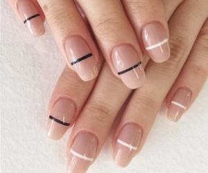 nails, nail art, and Nude image