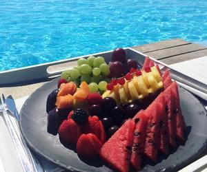 fruit, food, and sea image