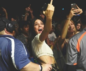 middle finger and kendall jenner image