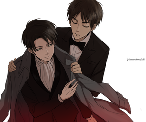 shingeki no kyojin, attack on titan, and ereri image