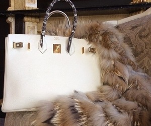 bag, luxury, and fur image
