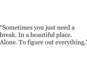 alone, beautiful, and break image