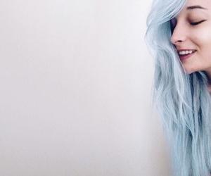 blue, dyed, and fashion image