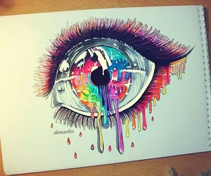 colorful, drawing, and eye image