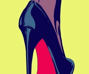 popart, red, and heels image