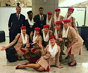 air, flight, and flight attendant image