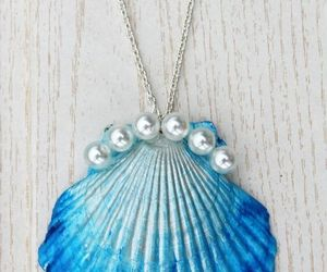 blue, necklace, and pearl image