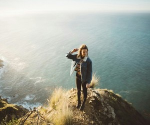 girl, mountain, and nature image