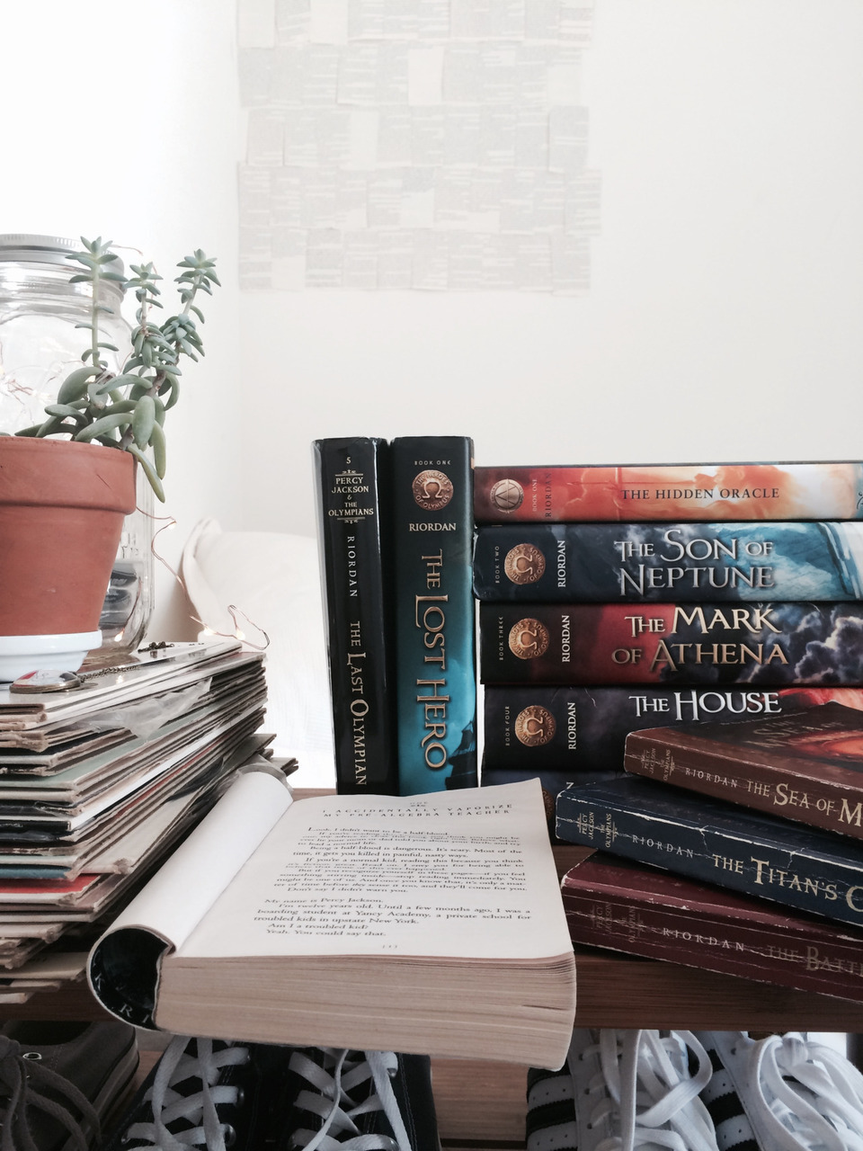 books, photography, and percy jackson image