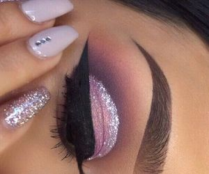 tumblr, nails+fashion, and makeup+girl image