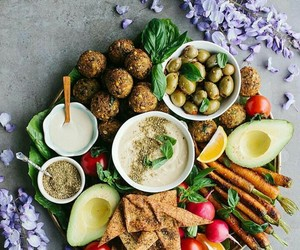 cooking, falafel, and lunch image