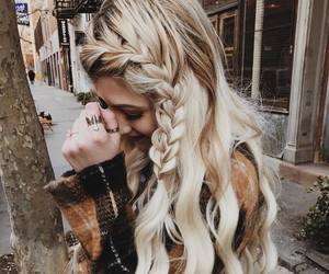 beauty, hairstyle, and blonde image