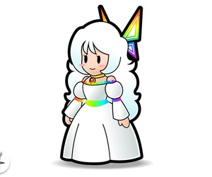 mario, rainbow, and white hair image
