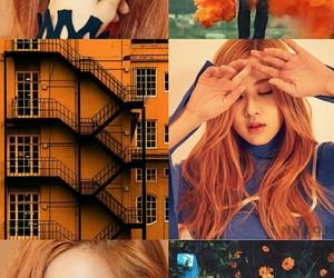 aesthetic, blackpink, and orange image