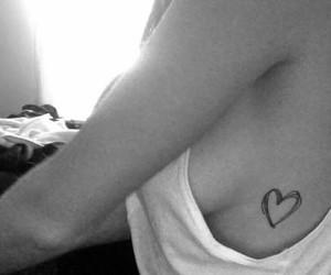 fashion, tatoo, and heart image