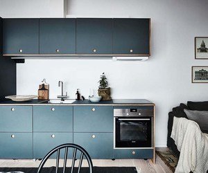blue, kitchen, and decoration image
