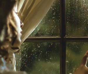 girl, rain, and window image