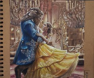 awesome, beauty and the beast, and belle image