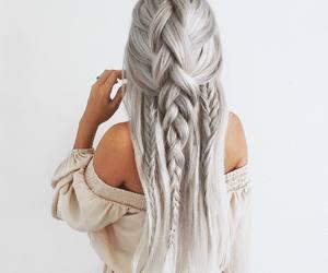 hair, braid, and long image