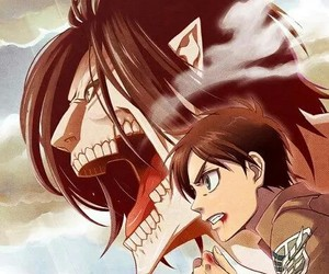 shingeki no kyojin, anime, and titan image