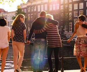 people, sunlight, and friends image