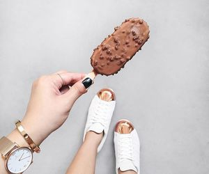 food, ice cream, and shoes image