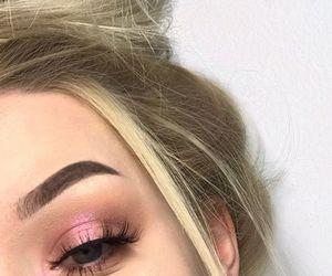 blonde hair, eyebrow, and eyeshadow image
