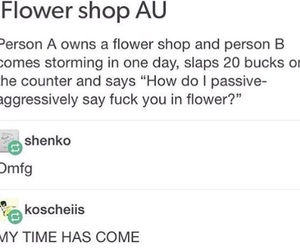 flowers, au, and fuck image