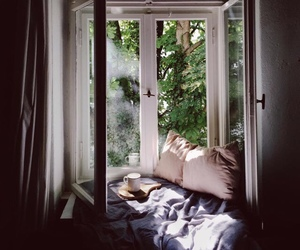 home, window, and nature image